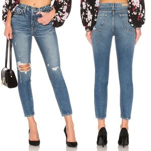 GRLFRND Karolina High Rise Ripped Skinny Jeans